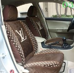Louis Vuitton Seat Covers - Home Design Louise Vuitton, Louis Vuitton Shoes, Louis Vuitton Handbags, Girly Car Seat Covers, Zapatillas Louis Vuitton, Car Interior Decor, Cheap Handbags, Car Accessories, Car Seats