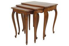 Mahogany Nesting Tables, Set of 3 on OneKingsLane.com