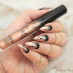 Kylie Jenner lip kit King K inspired nails <3