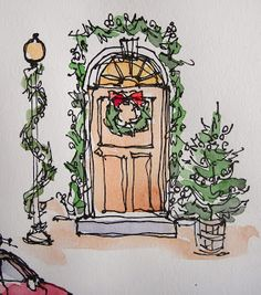 Sketchbook Wandering: Christmas Decorations Around Town