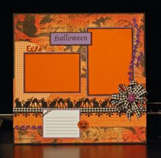 Halloween scrapbook page by A Page