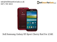 Want to get rid of your old and used #Samsung Galaxy S5 Sport Cherry Red online. JUST CLICK and Get the £183 to sell or #recycle your used smartphone.