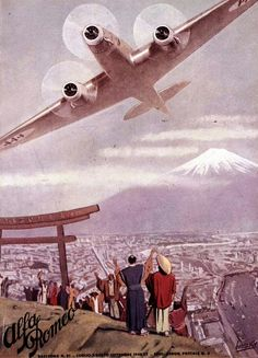 Future partners: Italian advertisement from the 1930s, with Japan theme.