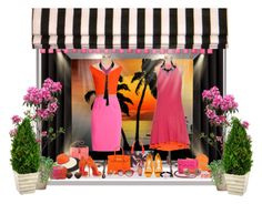 """""""Evening Sunset Window - Retail"""" by kathy-martenson-sanko ❤ liked on Polyvore featuring art"""