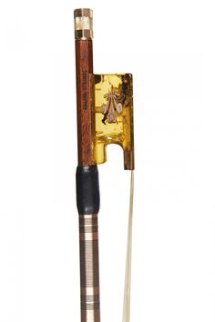 A Gold and Amber-Mounted Violin Bow by Michael Taylor for Ealing Strings, London 1984