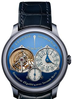 One of a kind F.P. Journe Tourbillon Soverain Bleu. If you has to ask how much it costs...