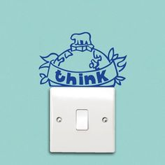 Conservation reminders in the form of stickers that go around switches and outlets.