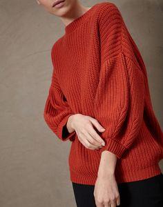 "Brunello Cucinelli      Cashmere Feather yarn English rib ""Shape"" sweater"