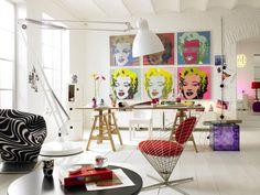 Salon w stylu pop-art