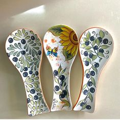 Ceramic Painting, Acrylic Art, Spoon Rest, Glaze, Tableware, Spoons, Home, Illustration Art, Drawings