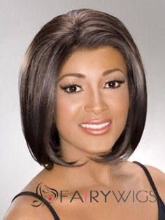 Beautiful Short Wavy Brown African American Lace Wigs for Women