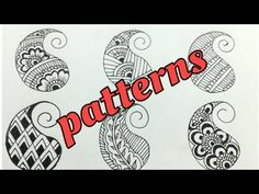 Basic steps of Mehndi Design Class- 7 Filling Patterns for Beginners Tutorial Mehndi Designs For Kids, Mehndi Designs For Beginners, Wedding Mehndi Designs, Mehndi Design Pictures, Mehndi Images, Mehandi Designs, Doodle Patterns, Henna Patterns, Fingers Design