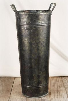 Wholesale Galvanized Containers All Shapes Amp Sizes Buckets Trays Bins French Bucket Vase