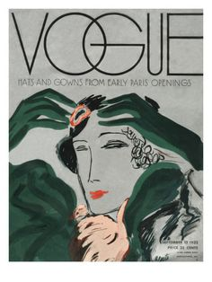 A Vintage Vogue Magazine Cover Of A Woman Art Print by Eduardo Garcia Benito Vogue Vintage, Capas Vintage Da Vogue, Vintage Vogue Covers, Vogue Magazine Covers, Magazine Cover Design, Cover Art, Poster Prints, Art Prints, Vintage Magazines