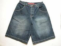 JNCO Jeans Blue Denim Baggy  Shorts Mens Size 34 Red Dragon ( Measure 34X13 ) #JNCO #Denim
