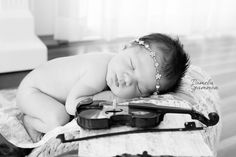 Newborn Imagination Sessions | Baby Violinist | Baby Violin | Baby Fiddle | Baby…