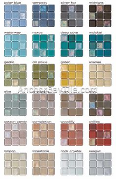 Recycled Glass Tile | AVAILABLE COLORS