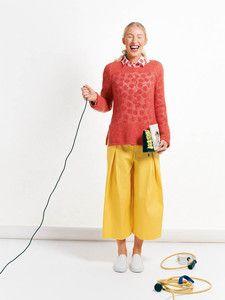 burda style: Damen - Hosen - Weitere Hosen - Culotte - Midi-Hosenrock