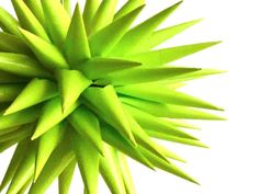 Modern Eco Friendly Home Decor Halloween Decoration Star Urchin Ornament Bright Green Paper - 4 inch - Chartreuse. $20.00, via Etsy.