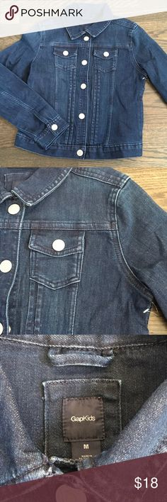 New without tag!!!Girls blue Jean jacket This jacket has never been worn and is new without tag's! Super cute and has great detail in the back! When my daughter decided to wear it it was too small! They grow so fast! GAP Jackets & Coats Jean Jackets