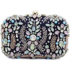 Rhinestone Satin Evening Bag (290 RON) ❤ liked on Polyvore featuring bags, handbags, evening bags, rhinestone studded purse, satin clutches, rhinestone clutches and evening handbags clutches