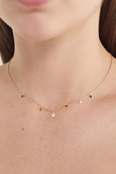 Star Necklace Gold/ Gold Lucky Star Charm Gold Star/ Dainty Gold Necklace/ Graduation Gift/ Gold Star jewelry/ Recycled Gold She's the light of your life. Ever since you brought her home from the hospital she's been the star of your worl Star Jewelry, Boho Jewelry, Vintage Jewelry, Fashion Jewelry, Jewelry Design, Geek Jewelry, Jewellery, Jewelry Bracelets, Dainty Gold Necklace