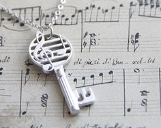 Musical Key Necklace.