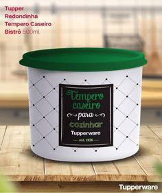 7215f2cfb Tupperware Redondinha Tempero Caseiro Bistrô 500ml - Comprar Tupperware  Online? Loja Mundo Tupperware Armazenar Temperos