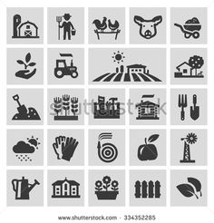 farm vector logo design template. gardening, horticulture or harvest, crop icons - stock vector