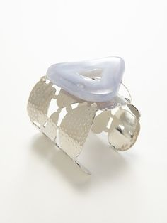 Chalcedony Geode Cutout Cuff