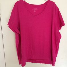 """Sonoma Plus Size T-Shirt Top Cotton knit v-neck top for summer. Bust laying flat 27"""", Length 25"""". Sonoma Tops Tees - Short Sleeve"""