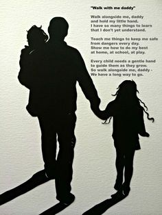 Download Custom Silhouette Print - Father and Children - Perfect ...