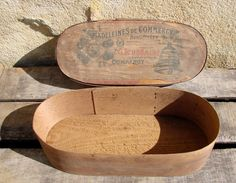 Antique French Wooden Biscuits Box Cookies by LesCoquettesDuPerche