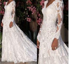 lace wedding dress / long sleeve wedding by BeautifulLifeDress, $229.99