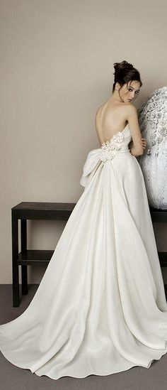 Antonio Riva wedding dress - oh my what a beautiful draping at the back!