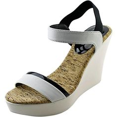 Charles By Charles David Petra Women US 85 White Wedge Sandal * Find similar products by clicking the VISIT button
