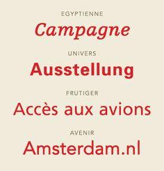 Adrian Frutiger's typefaces