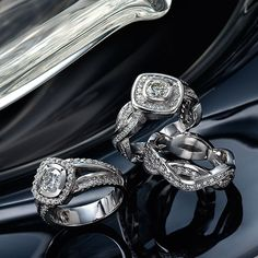three 18k white gold diamond rings Somerset West, Fine Jewelry, Jewellery, White Gold Diamonds, Diamond Rings, Jewelry Collection, Rings For Men, Vans, Wedding Rings