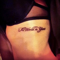 I want this tat!!!! Too bad they hurt entirely too much especially on the ribs!