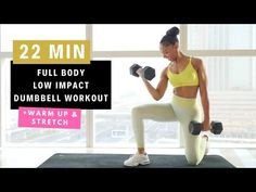 LOW IMPACT FULL BODY WORKOUT with Dumbbells | New Real-Time Series - YouTube Warm Up Stretches, Workout Videos, Workouts, Time Series, Muscles In Your Body, Workout Warm Up, Dumbbell Workout, Full Body, Health Fitness