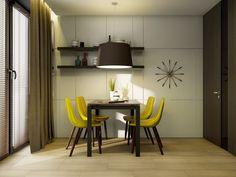 столовая группа в дизайне интерьера кухни 9 кв. м.