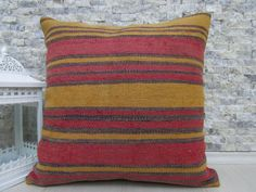 faded color kilim pillow decorative boho pillow 20 x 20 handmade kilim cushion bohemian pillow home decor wool kilim pillow cover
