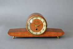 Vintage mantel clock table clock Sieco wooden von MightyVintage, €120.00
