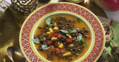 The best Spicy Lentil Soup recipe you will ever find. Welcome to RecipesPlus, your premier destination for delicious and dreamy food inspiration. Spicy Lentil Soup, Lentil Soup Recipes, Vegetarian Curry, Tomato Vegetable, Green Lentils, Indian Dishes, Food Inspiration, Tasty, Stuffed Peppers