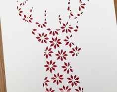 Papercut Christmas Templates pack Reindeer by PerfectlyPapercuts