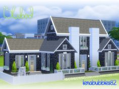 Lovely blue 3 story with basement themed home for your sim and little one Found in TSR Category 'Sims 4 Residential Lots'