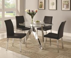 Marvelous Round Glass Dining Table Argos