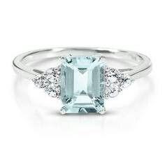 Diamonds and Aqa marine ring