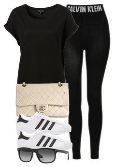 """Style  #10637"" by vany-alvarado ❤ liked on Polyvore featuring Topshop, Chanel, adidas Originals and Ray-Ban"