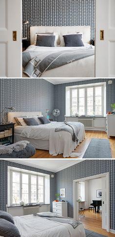 Elephant wallpaper by Svenskt Tenn Interior Design, White Decor, Home, Room Inspo, Scandinavian Home, Bedroom, Room, Interior, Grey Decor